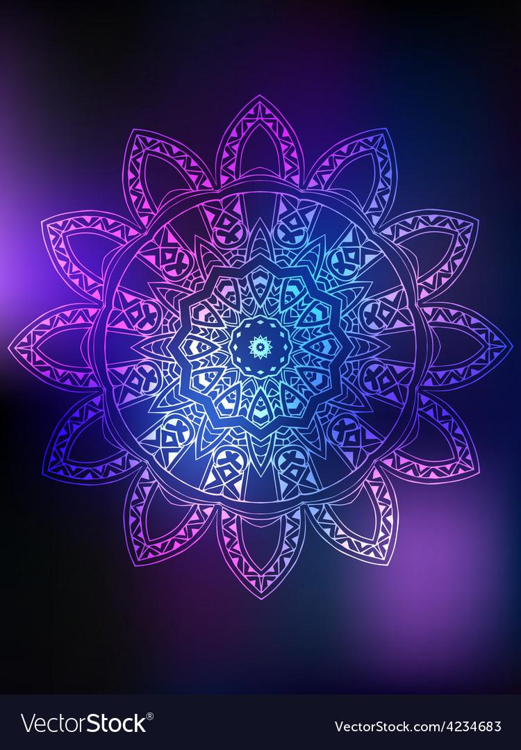 Mandala card color vector | Price: 1 Credit (USD $1)