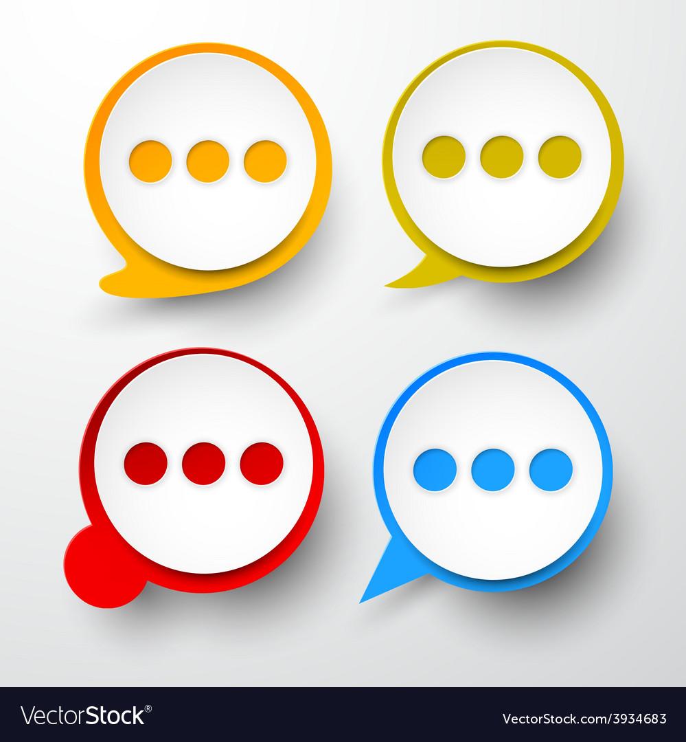Paper set of round speech bubble vector | Price: 1 Credit (USD $1)