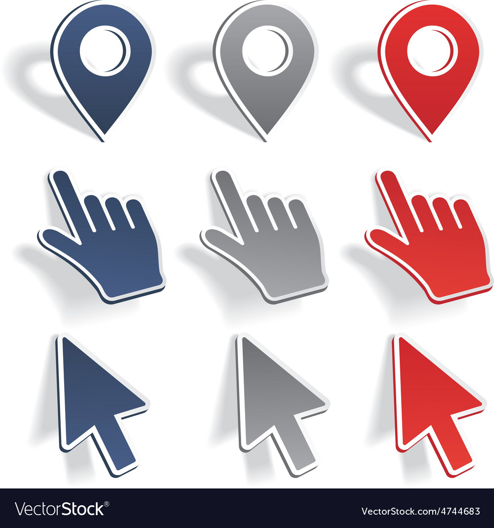 Set of different map pointers vector   Price: 1 Credit (USD $1)