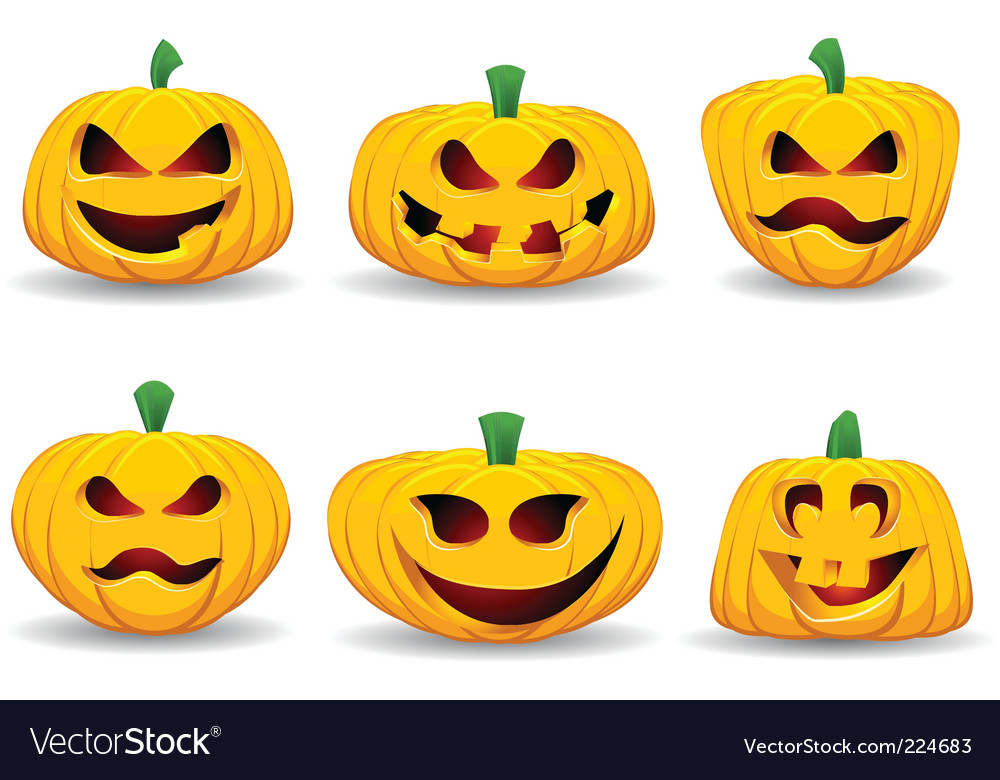 Spooky pumpkins vector | Price: 3 Credit (USD $3)
