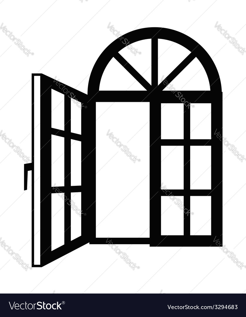 Window icon vector | Price: 1 Credit (USD $1)