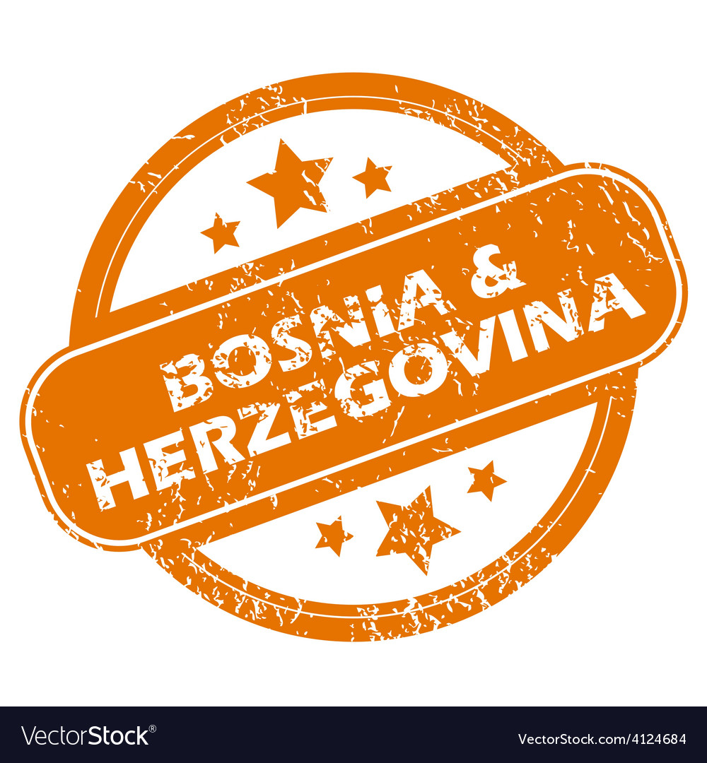 Bosnia and herzegovina grunge icon vector | Price: 1 Credit (USD $1)