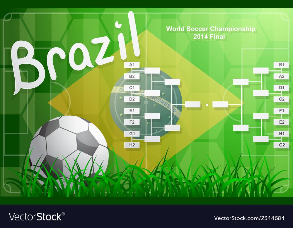 Brazil fifa championship tournament chart vector | Price: 1 Credit (USD $1)