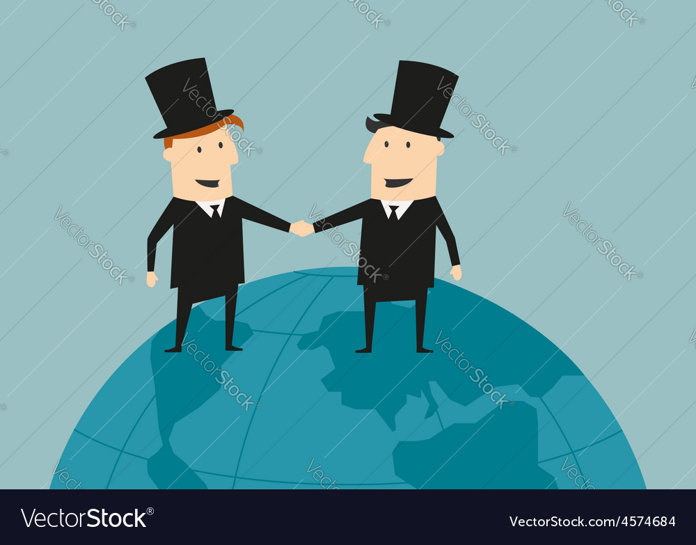 Businessman and industrialist shaking hands vector | Price: 1 Credit (USD $1)