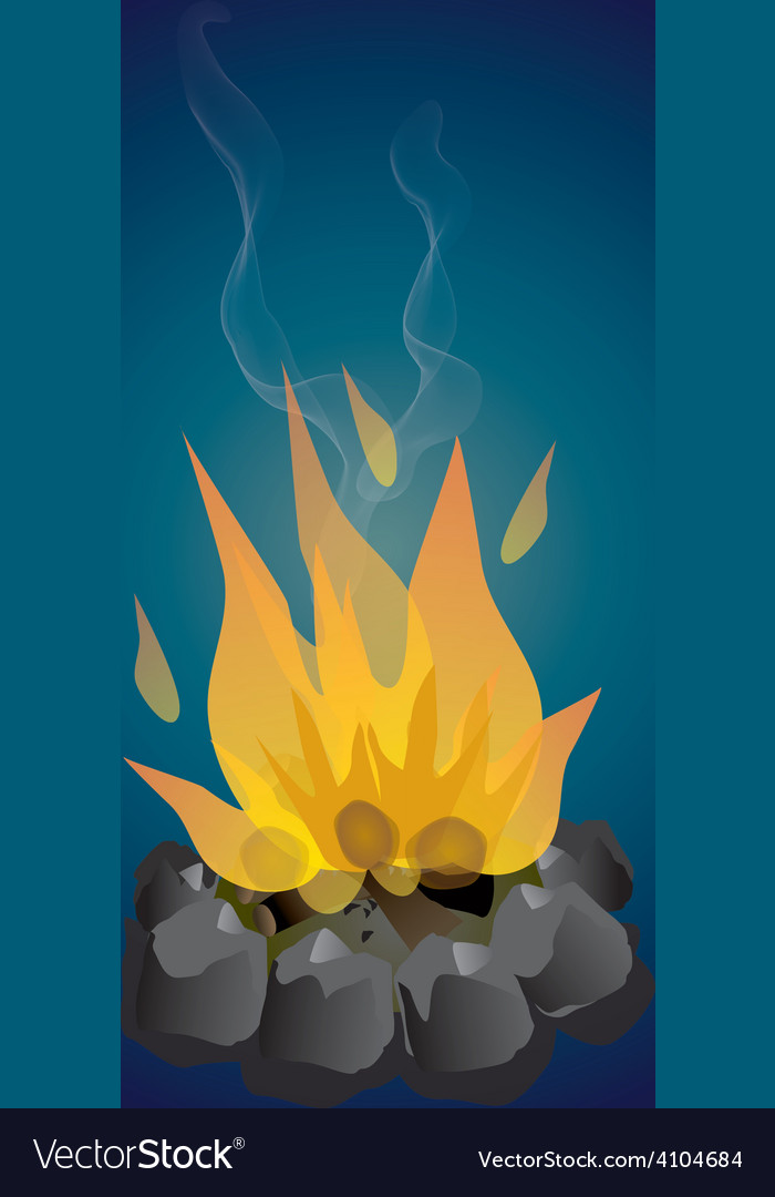 Campfire vector | Price: 1 Credit (USD $1)