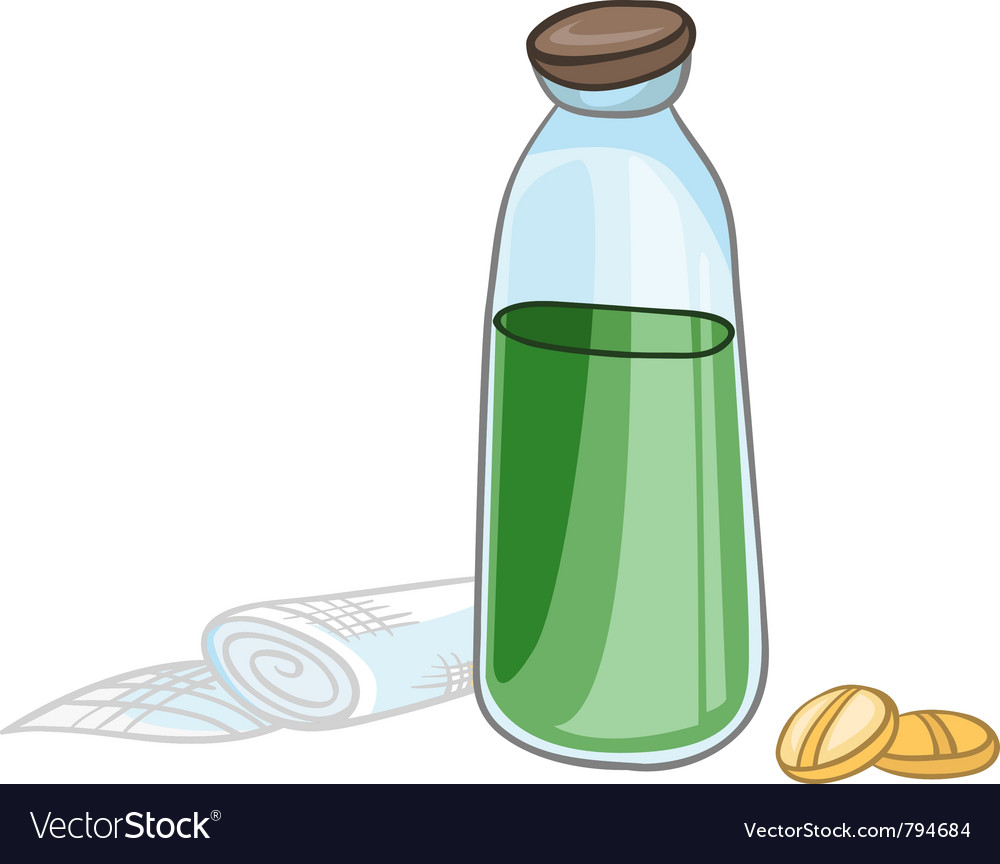 Cartoon home medicine pills vector | Price: 1 Credit (USD $1)