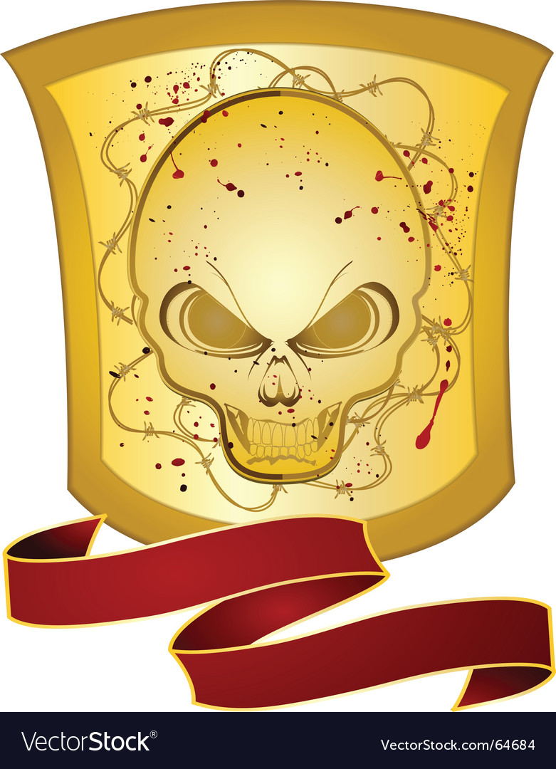 Decorative skull shield vector | Price: 1 Credit (USD $1)