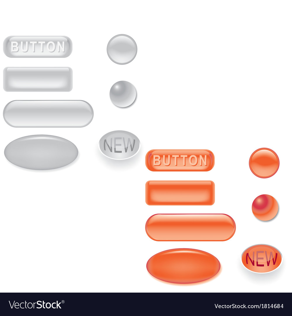 Glass buttons collection vector   Price: 1 Credit (USD $1)