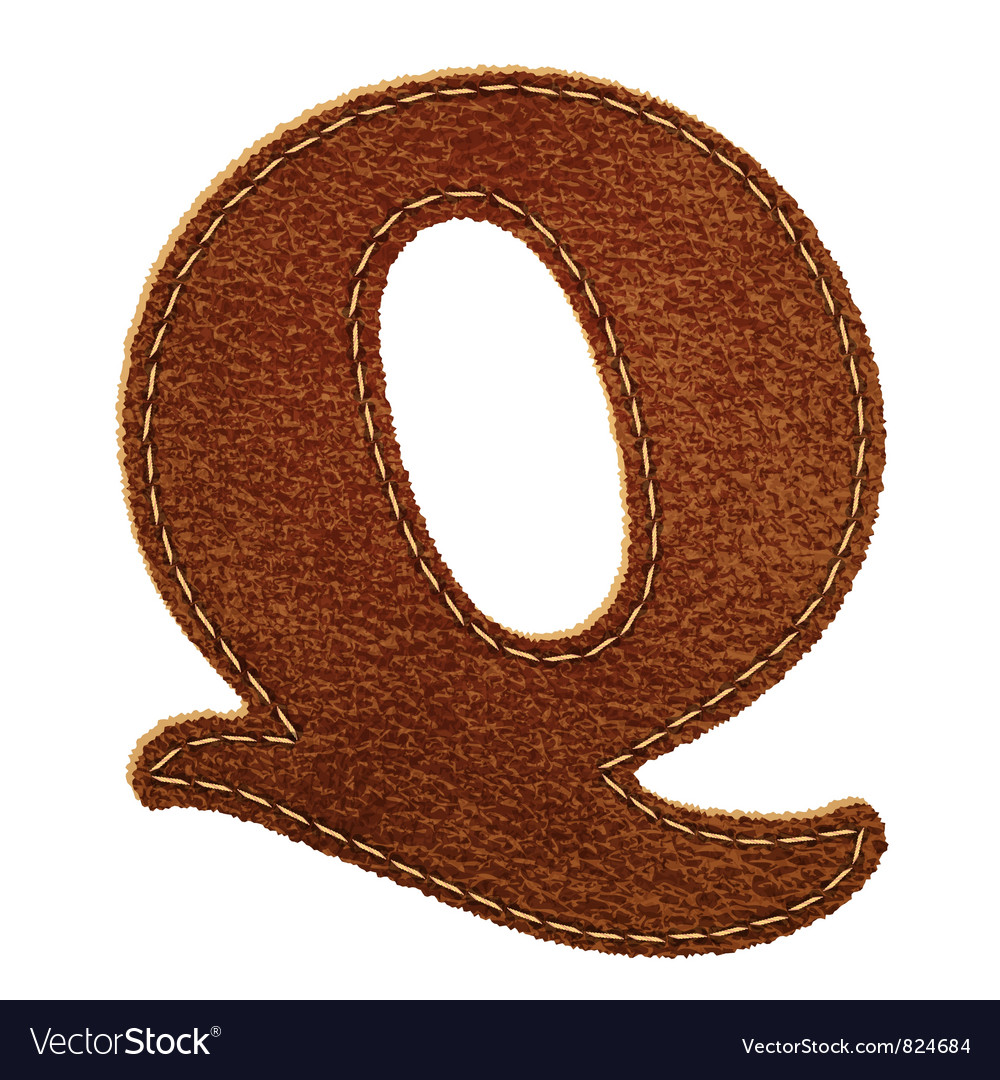 Leather textured letter q vector | Price: 1 Credit (USD $1)