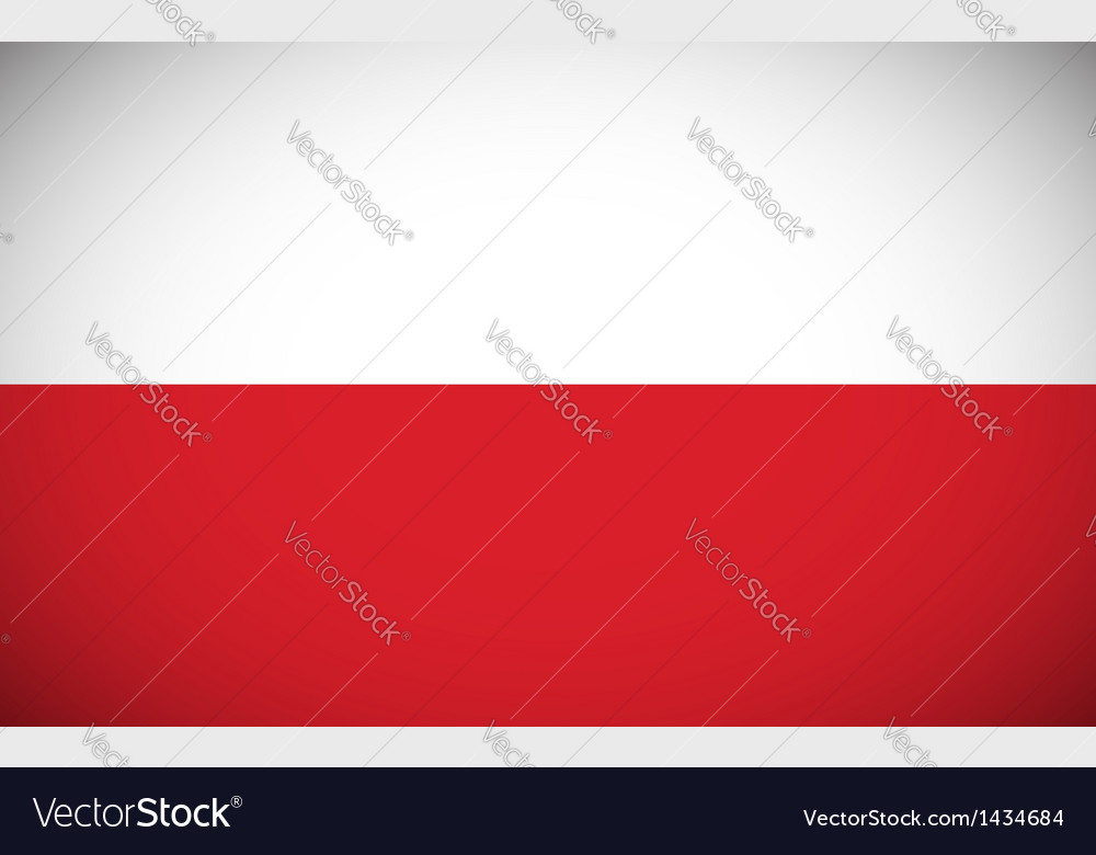 National flag of poland vector | Price: 1 Credit (USD $1)