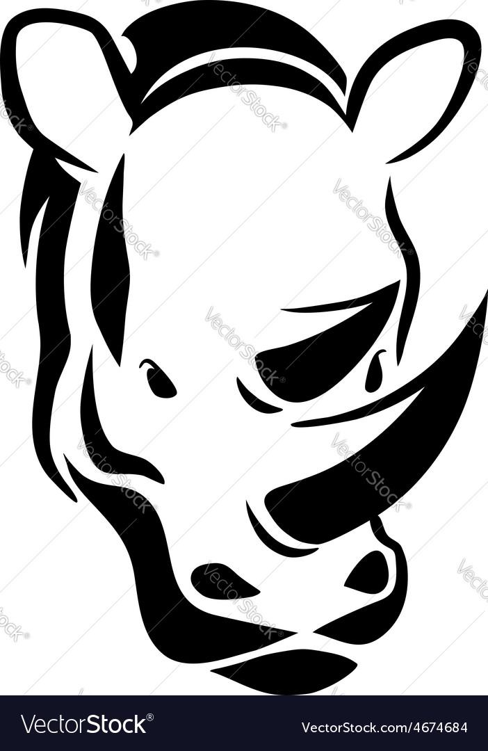 Rhinoceros head tattoo vector | Price: 1 Credit (USD $1)