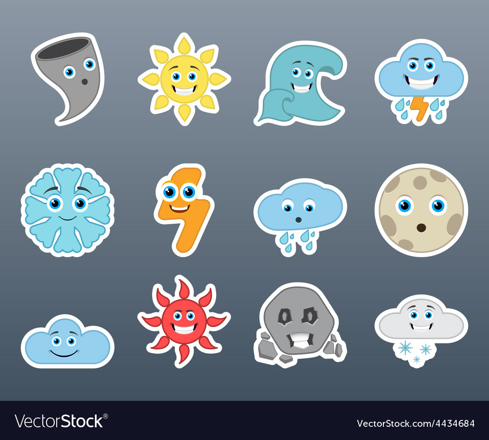 Stickers varying weather vector | Price: 1 Credit (USD $1)