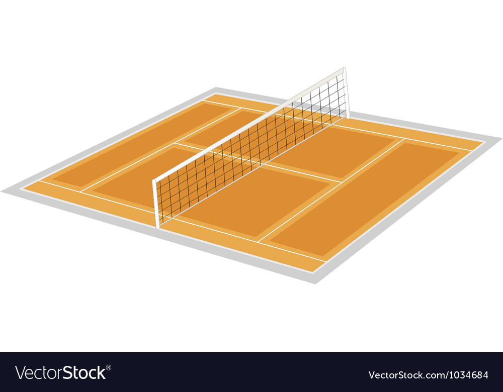 Volley ball ground vector | Price: 1 Credit (USD $1)