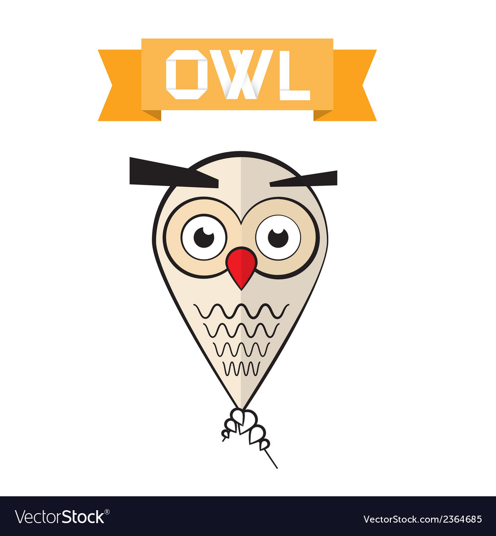 Abstract owl vector | Price: 1 Credit (USD $1)