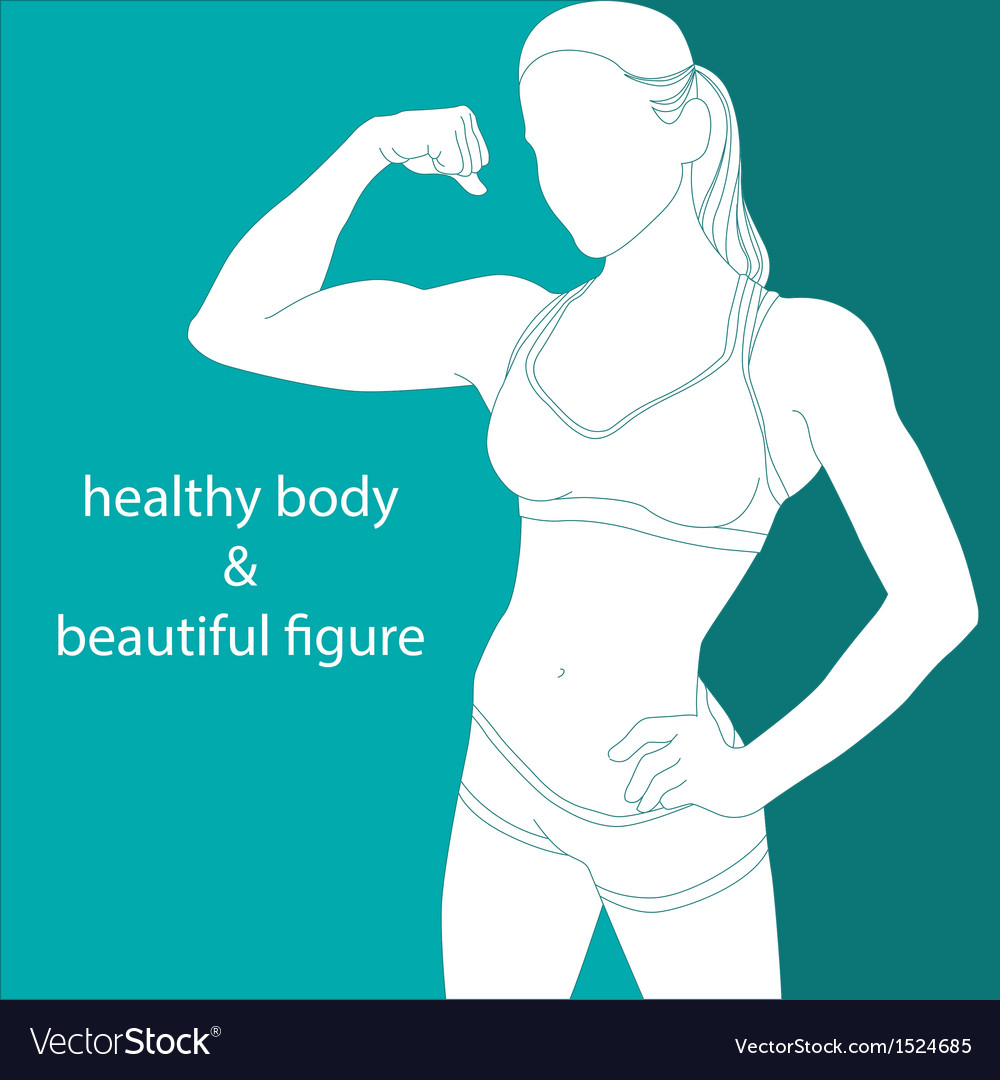 Attractive girl athletic vector | Price: 1 Credit (USD $1)