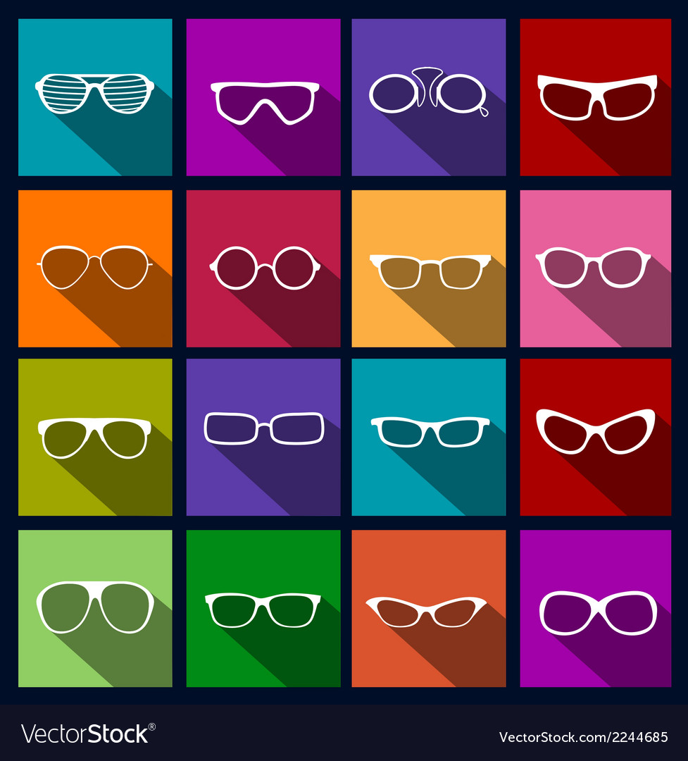 Colorful icons sunglasses vector | Price: 1 Credit (USD $1)