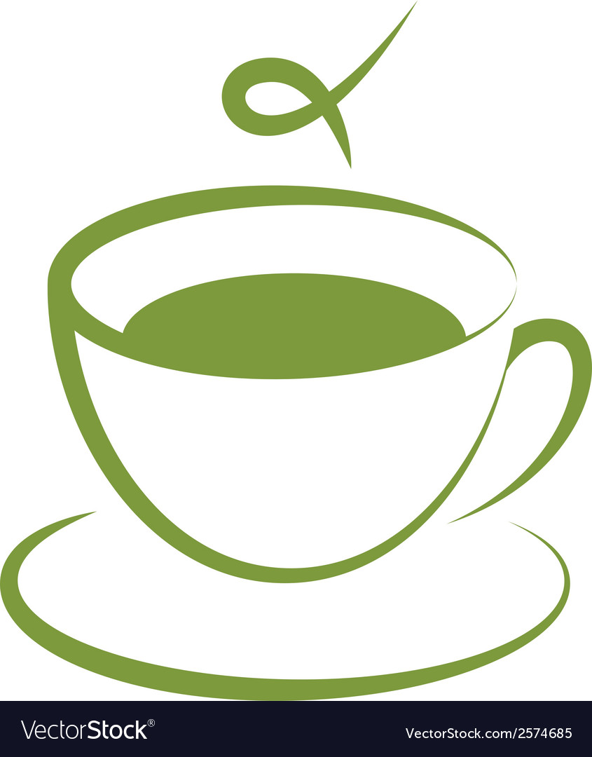 Icon of green tea cup vector   Price: 1 Credit (USD $1)