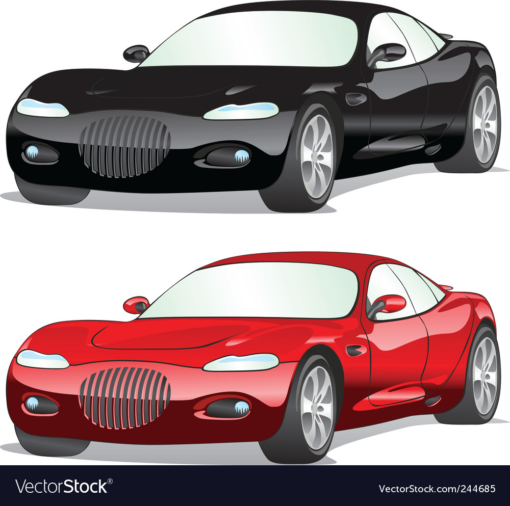 Isolated cars vector | Price: 1 Credit (USD $1)