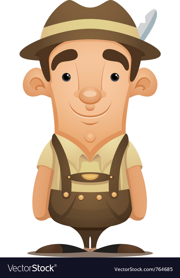 Lederhosen man vector | Price: 3 Credit (USD $3)