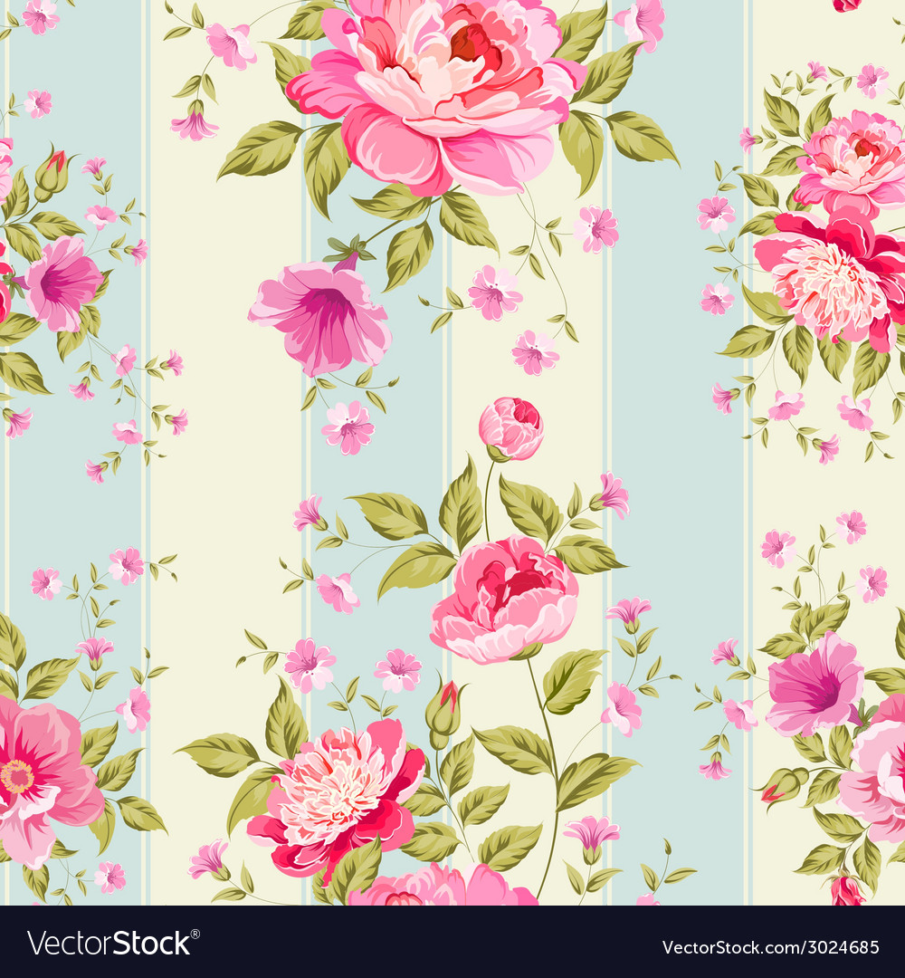 Luxurious peony wallapaper vector | Price: 1 Credit (USD $1)