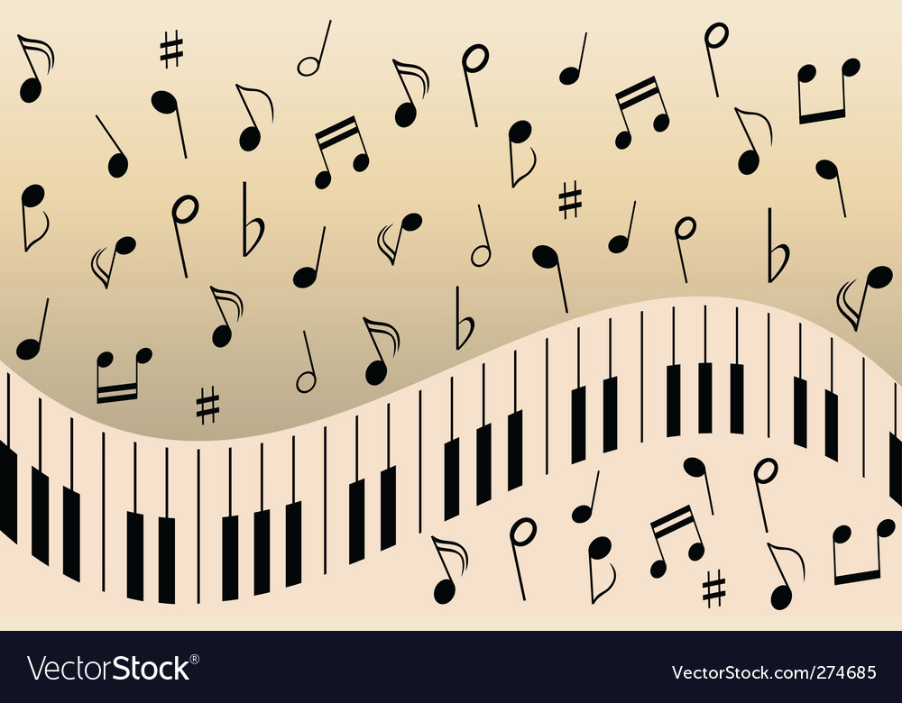 Music notes piano vector | Price: 1 Credit (USD $1)