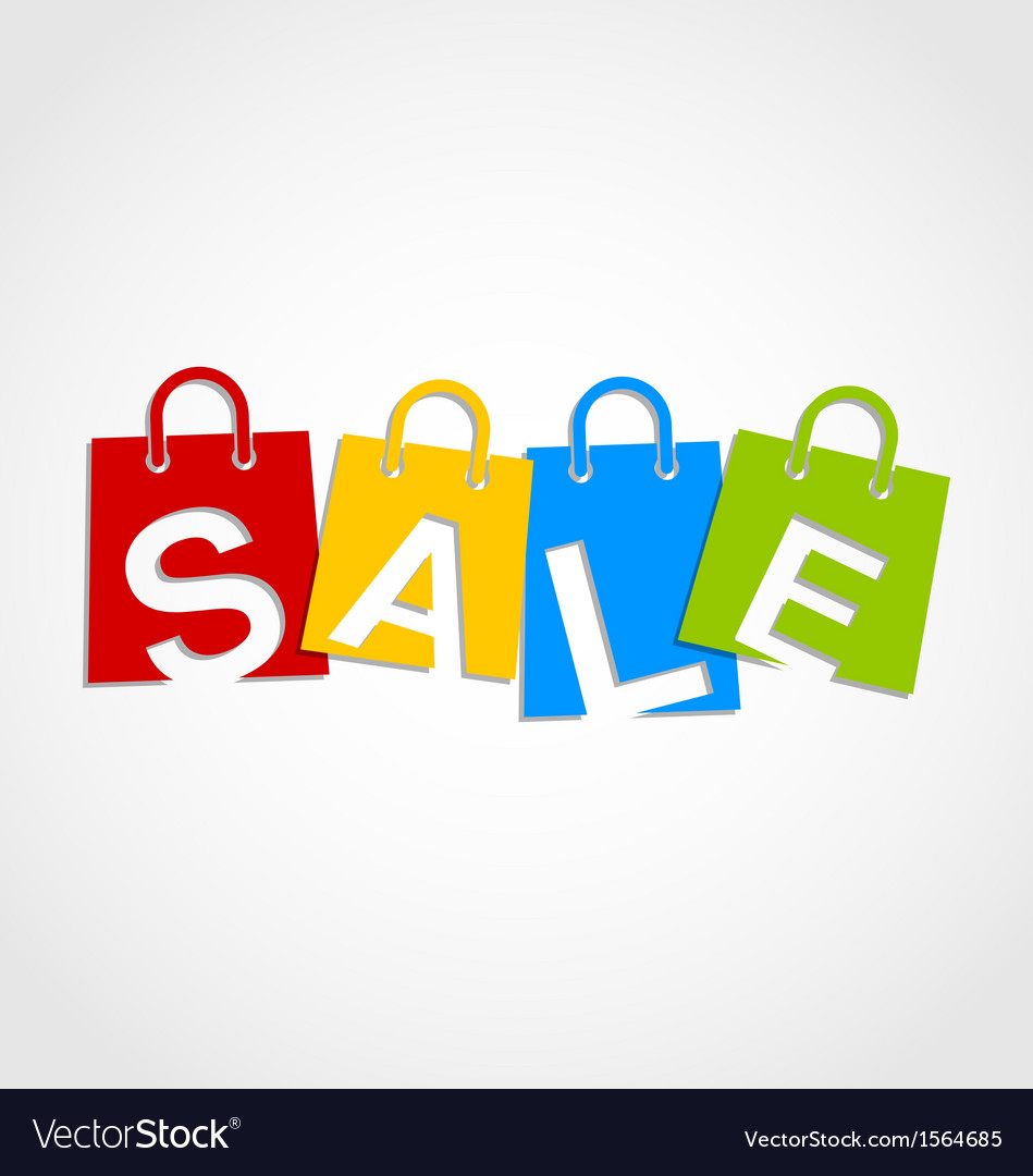 Sale bags vector | Price: 1 Credit (USD $1)