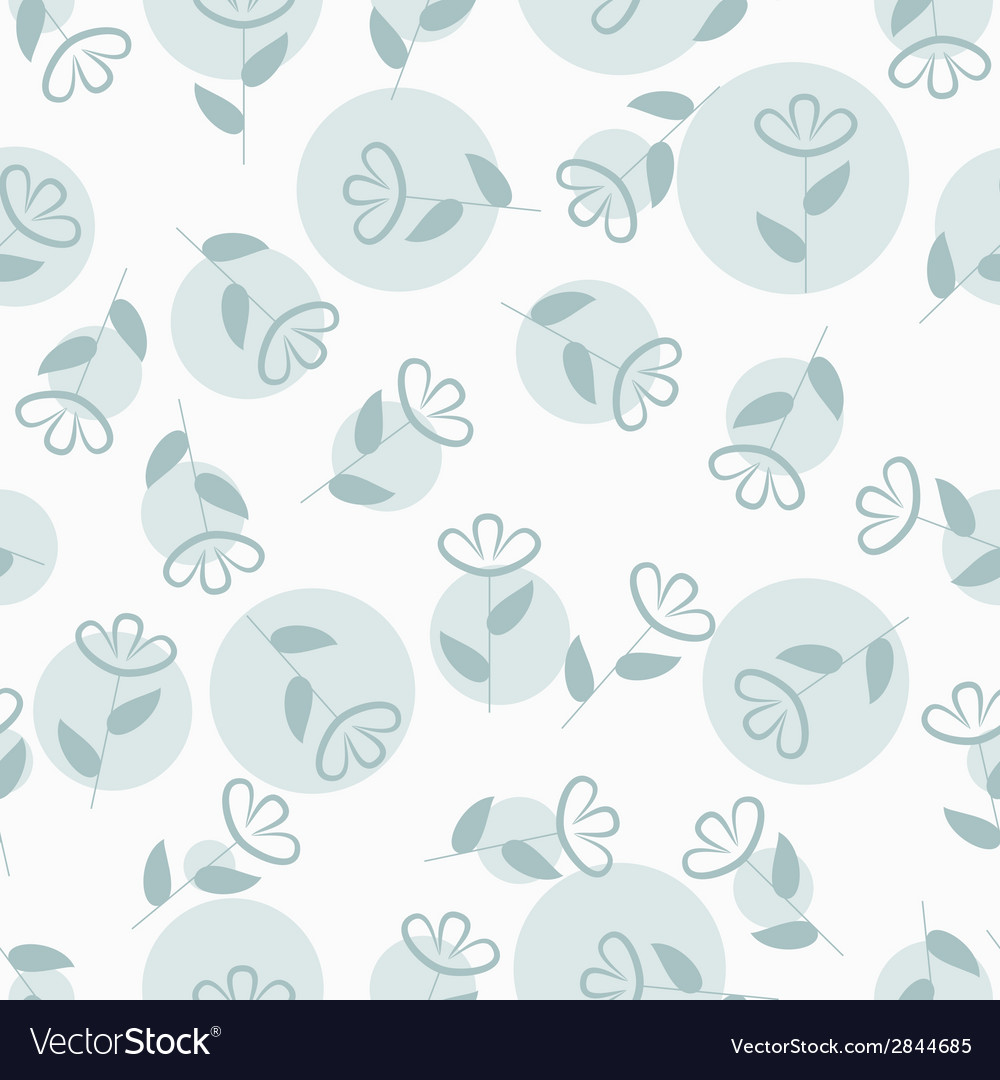 Simple floral seamless pattern with spots vector | Price: 1 Credit (USD $1)