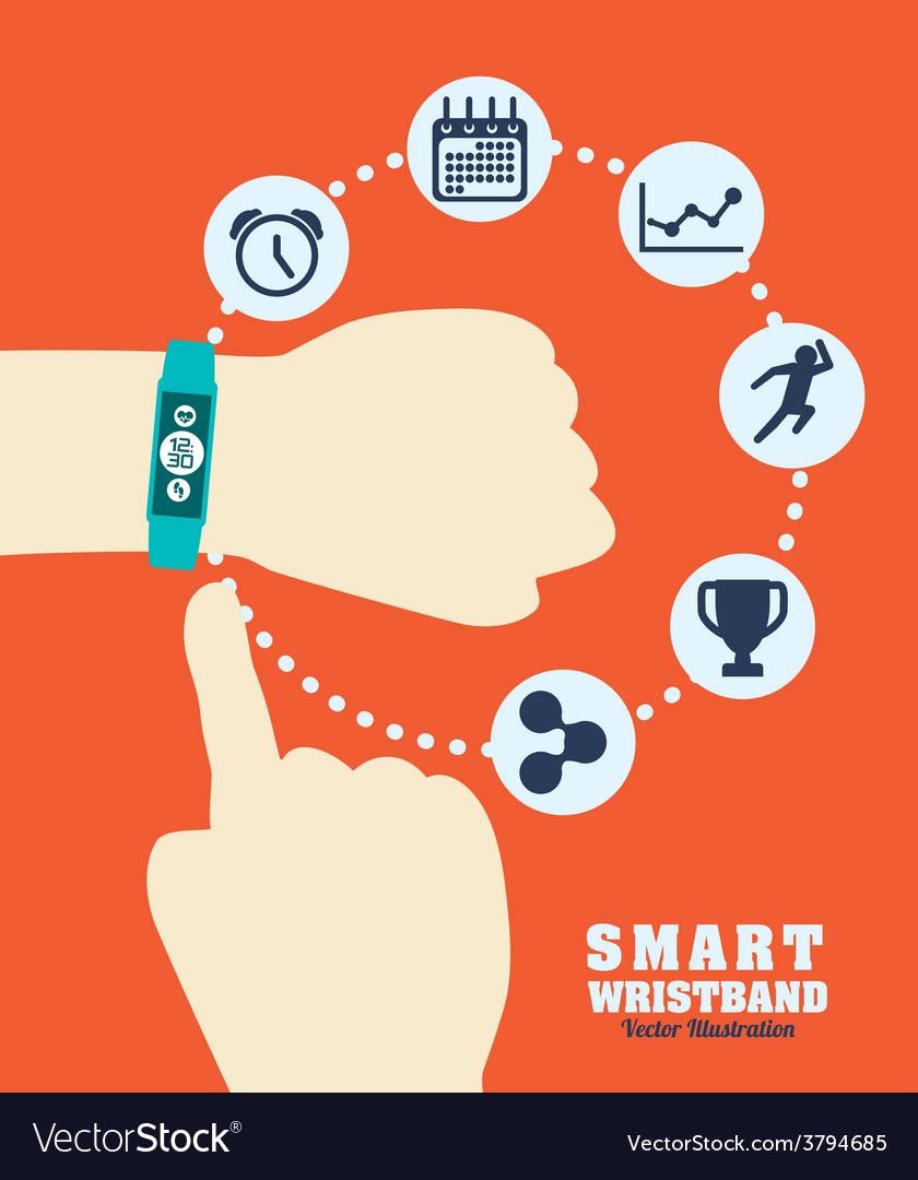 Smart wristband vector | Price: 1 Credit (USD $1)