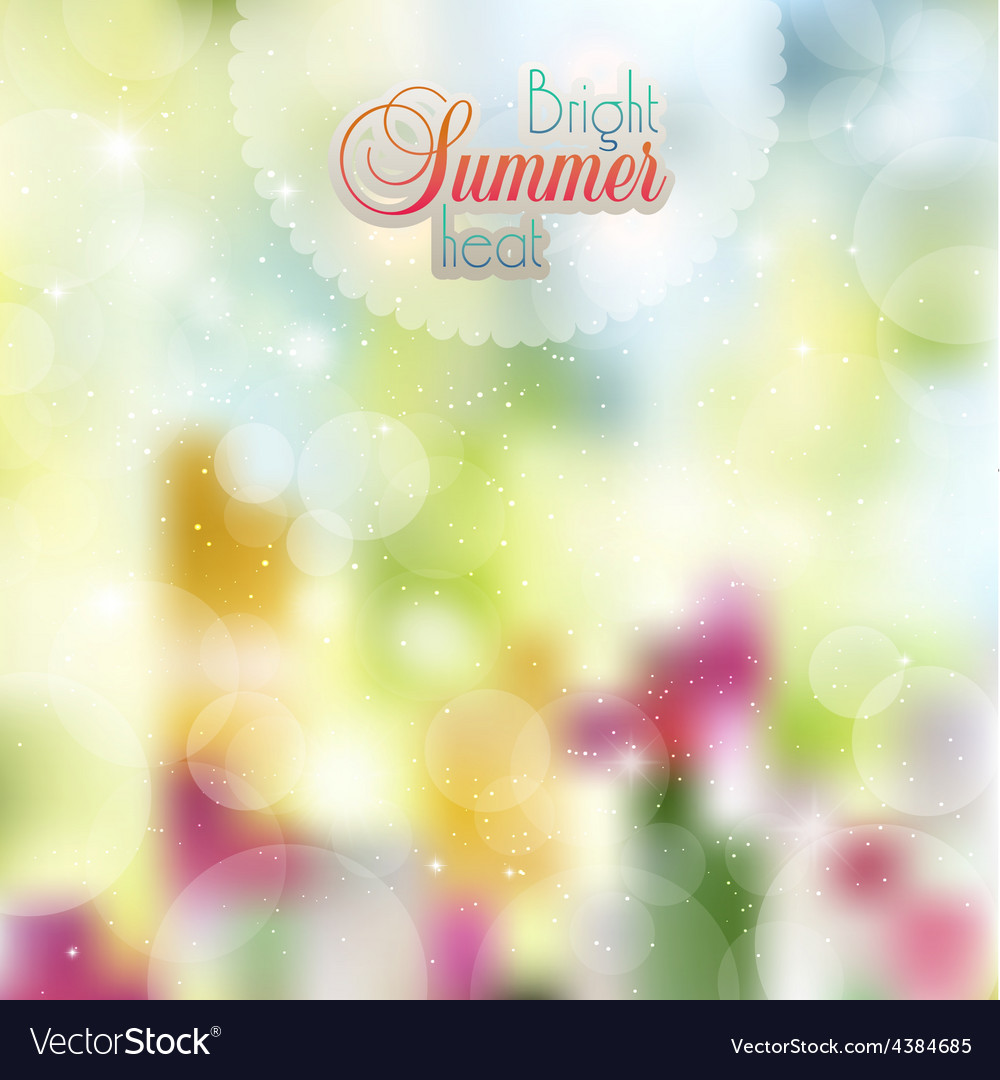 Summer sunny background of flowers vector | Price: 1 Credit (USD $1)