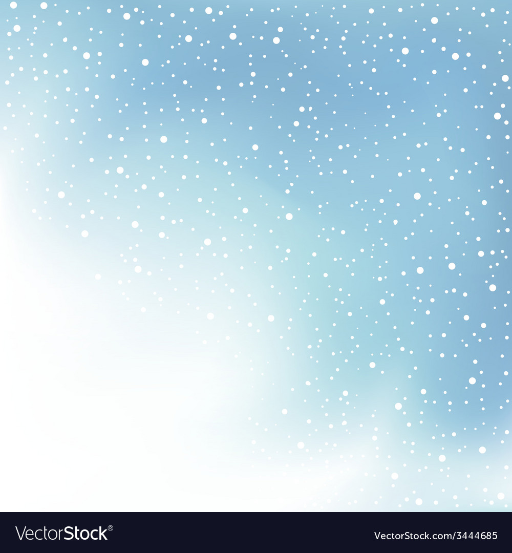 Winter day snow and cloud vector | Price: 1 Credit (USD $1)