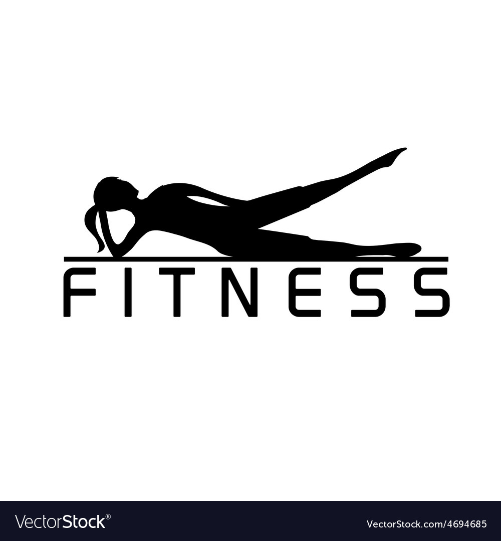 Woman of fitness silhouette character design vector | Price: 1 Credit (USD $1)