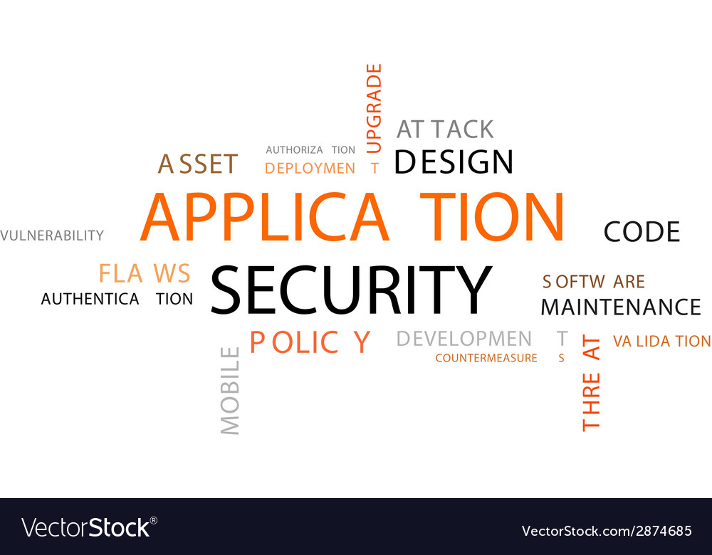 Word cloud application security vector | Price: 1 Credit (USD $1)