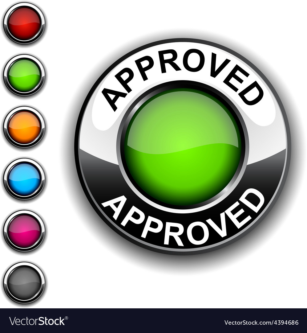 Approved button vector | Price: 1 Credit (USD $1)
