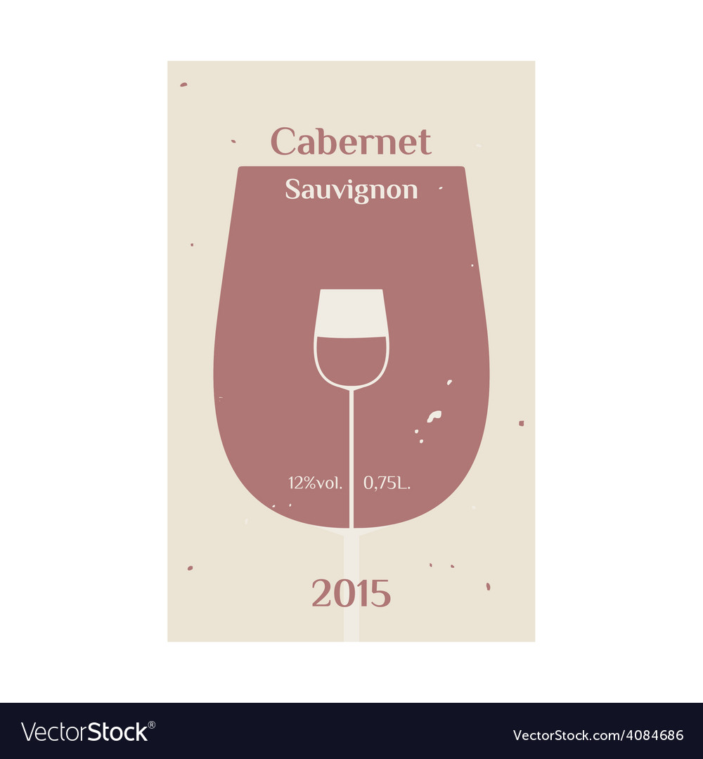 Cabernet sauvignon label 2 vector | Price: 1 Credit (USD $1)