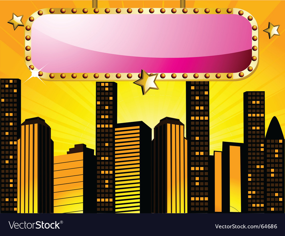 City sign vector | Price: 1 Credit (USD $1)