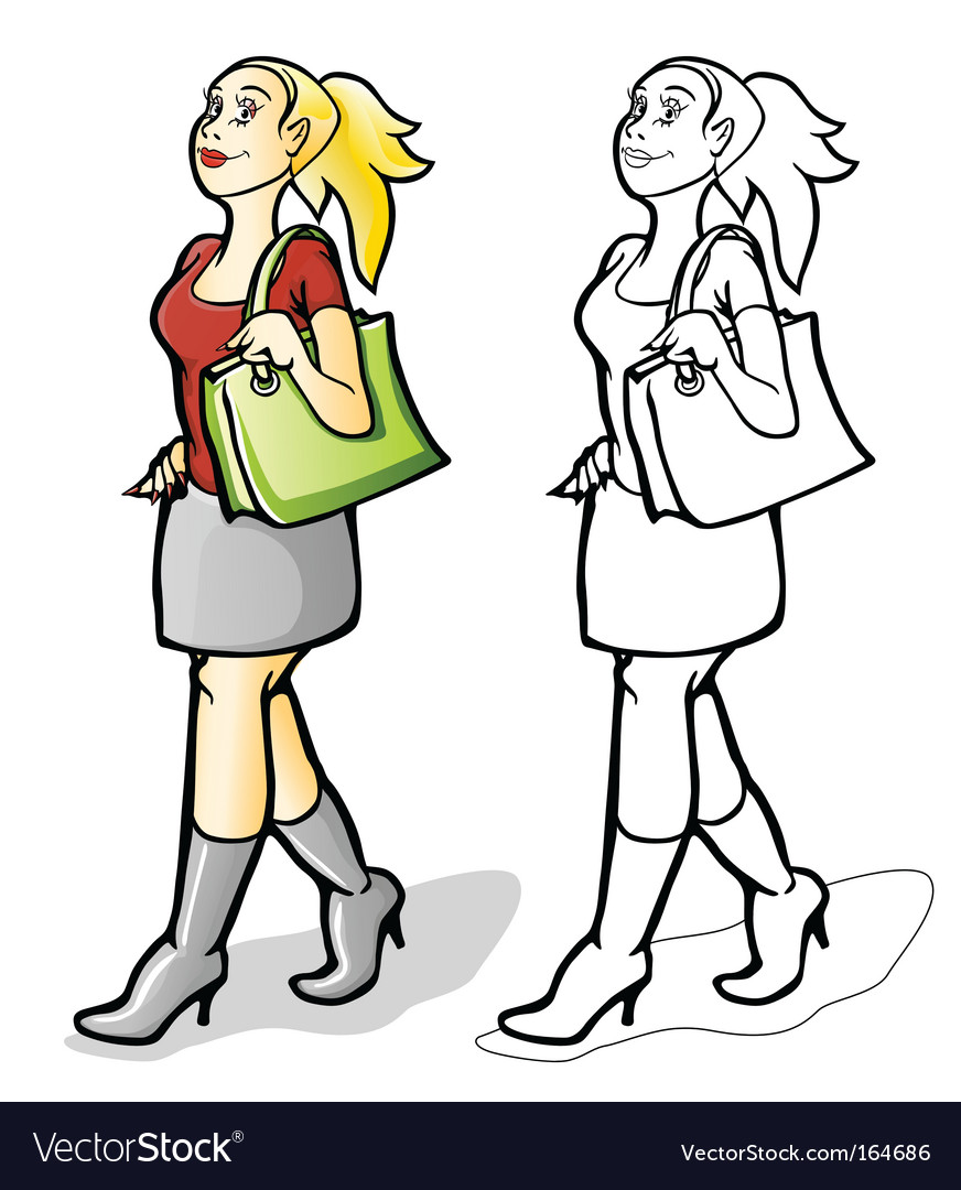 Girl shopping vector   Price: 3 Credit (USD $3)