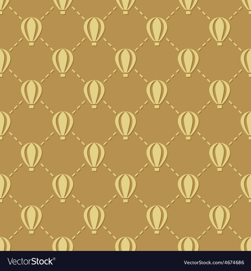 Hot-air balloon seamless pattern vector | Price: 1 Credit (USD $1)