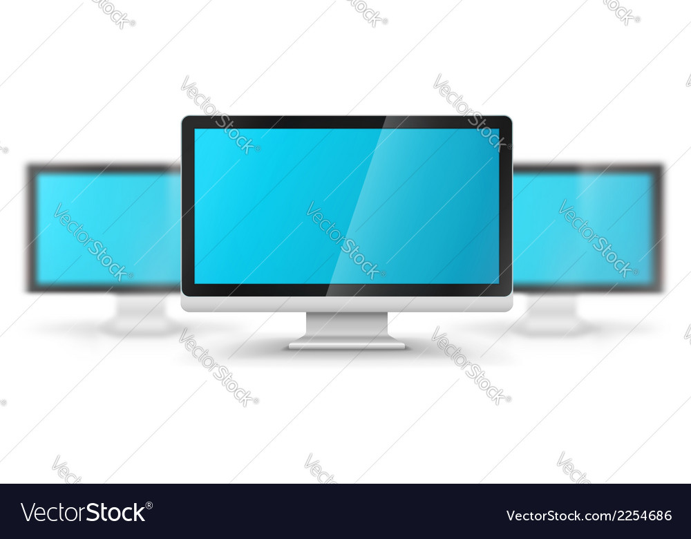 Row of computer displays vector | Price: 1 Credit (USD $1)