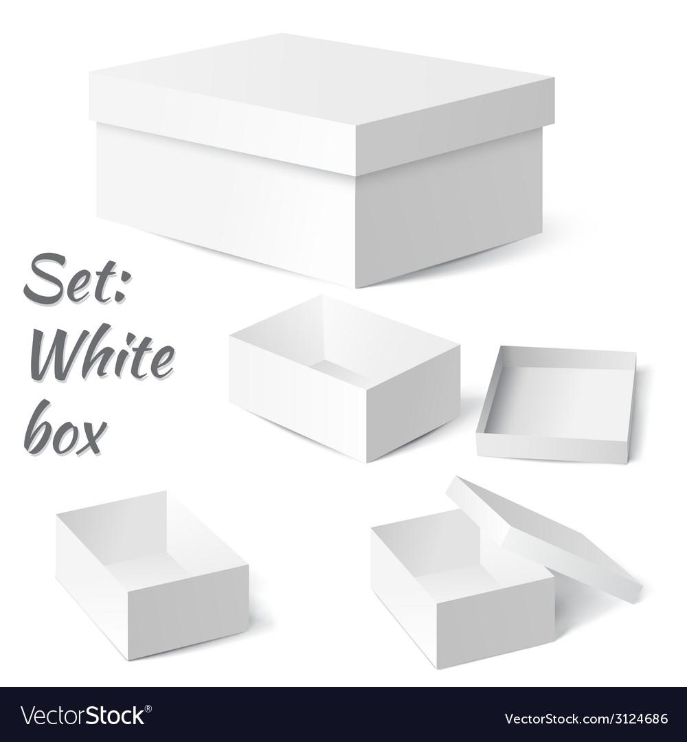 Set white box vector | Price: 1 Credit (USD $1)