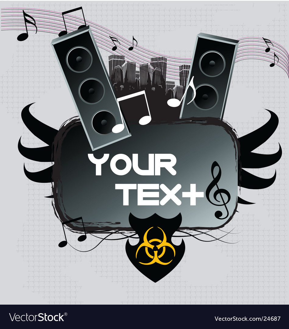 A dark urban music poster vector | Price: 1 Credit (USD $1)