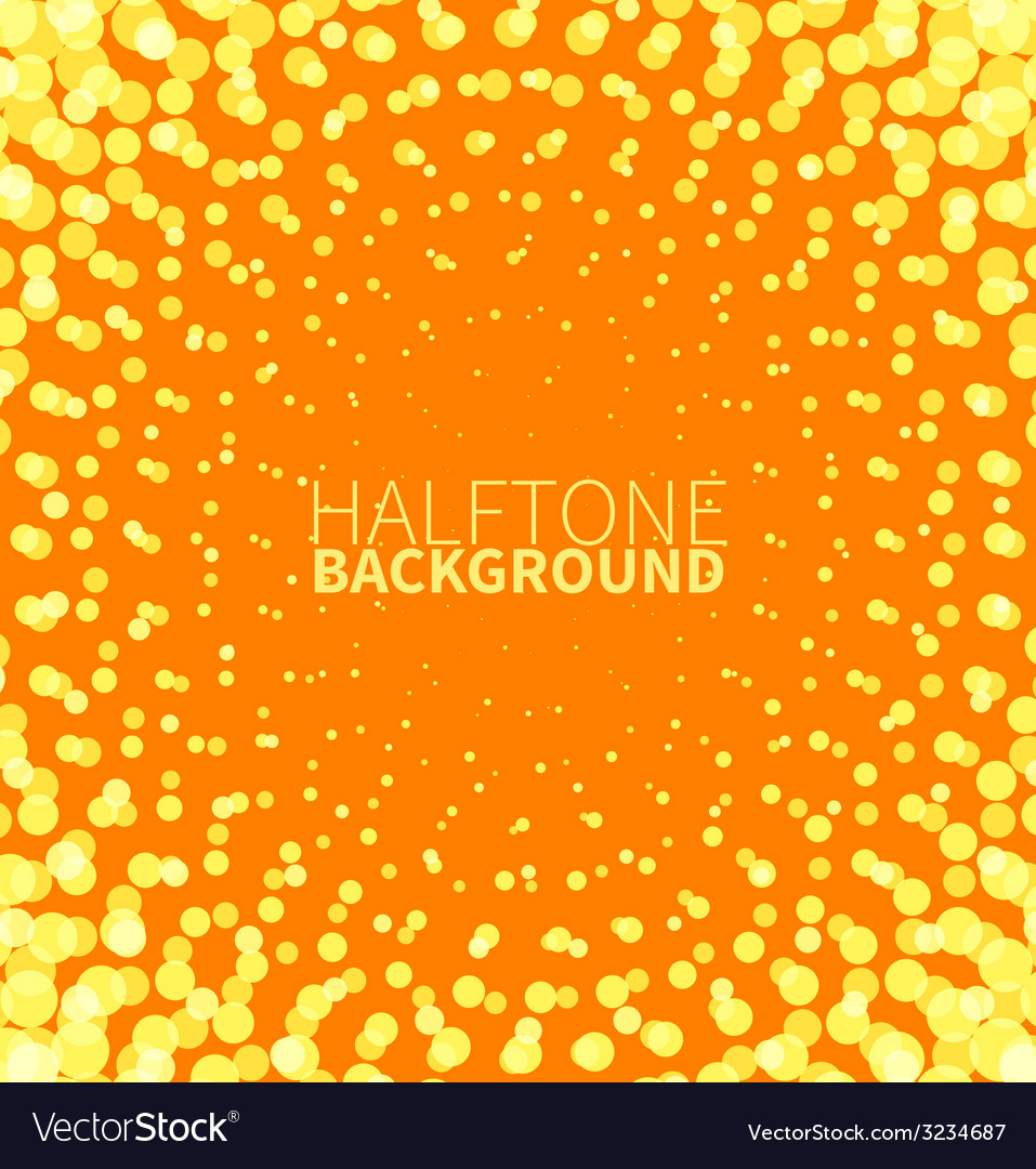 Abstract orange halftone background with yellow vector | Price: 1 Credit (USD $1)