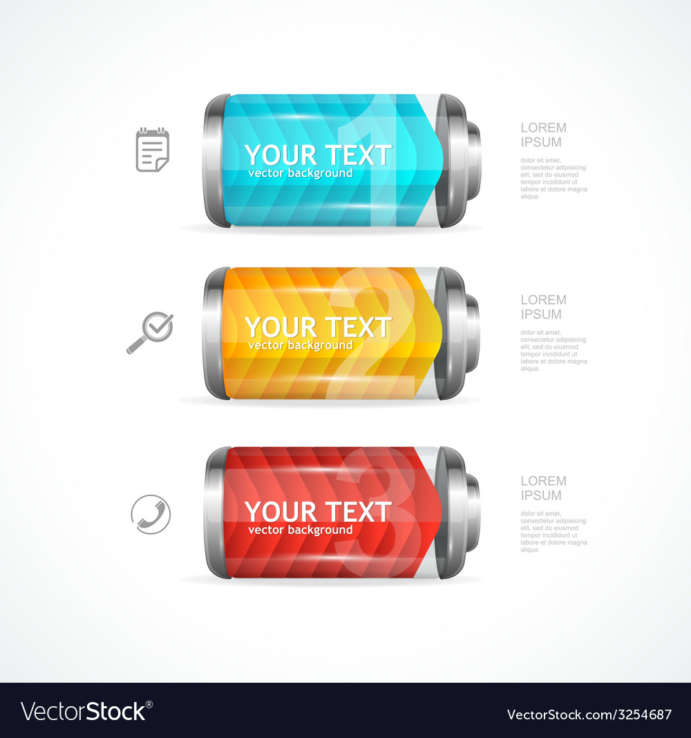 Detailed glossy battery like menu vector | Price: 1 Credit (USD $1)
