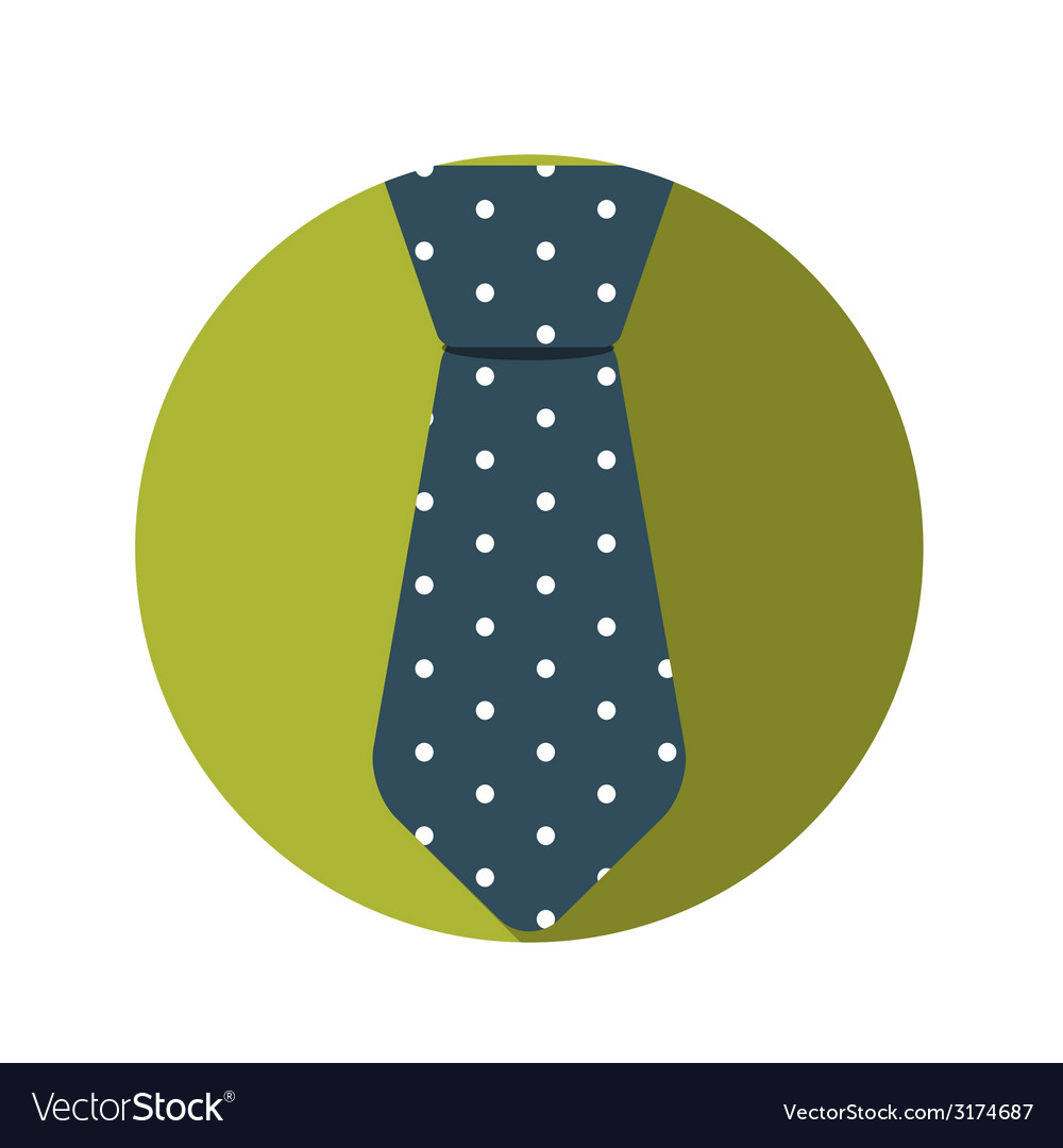 Flat design concept tie with long shadow vector | Price: 1 Credit (USD $1)