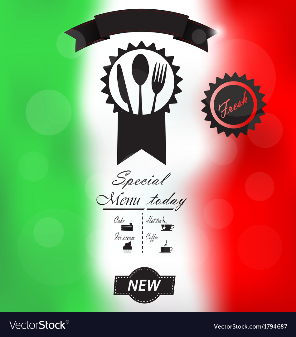 Italian menu poster vector | Price: 1 Credit (USD $1)