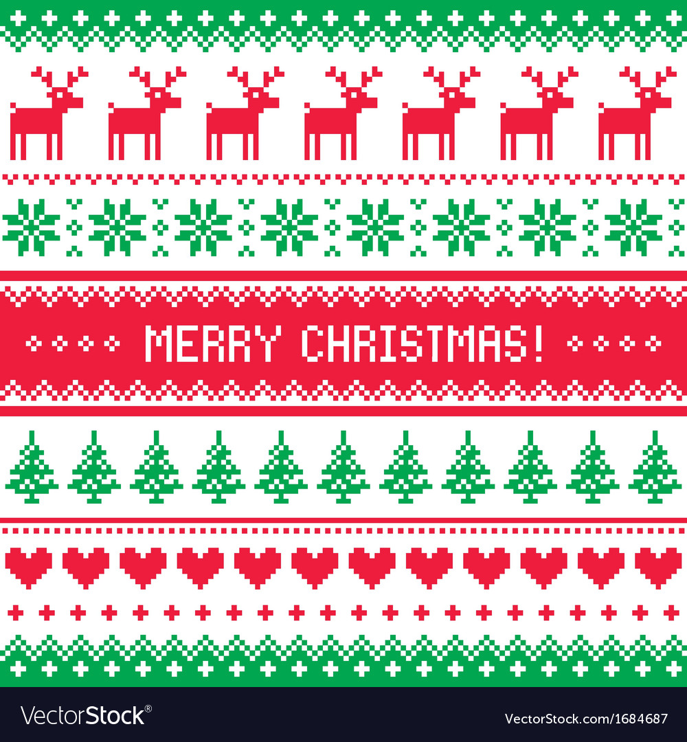 Merry christmas pattern with deer - scandynavian s vector | Price: 1 Credit (USD $1)
