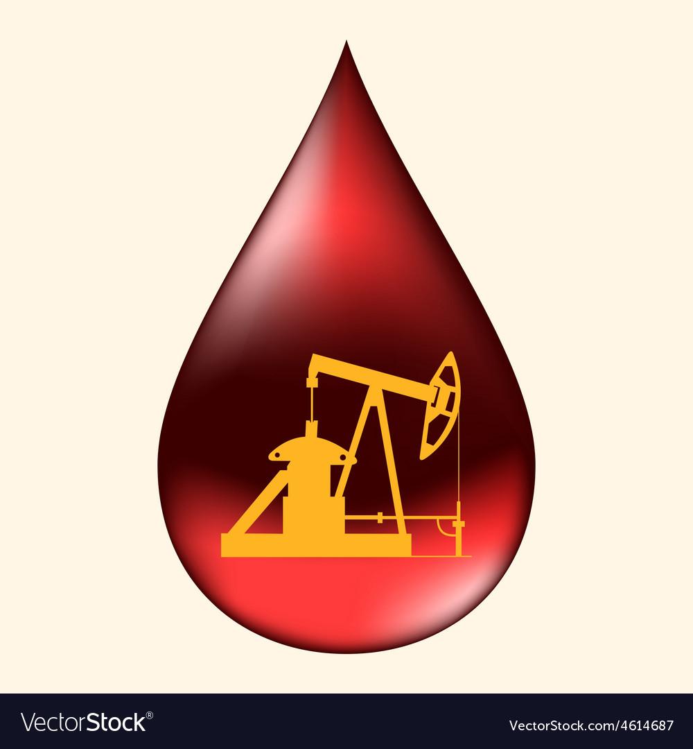 Oil pump in a drop of oil vector   Price: 1 Credit (USD $1)