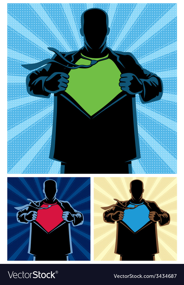 Superhero under cover 2 vector