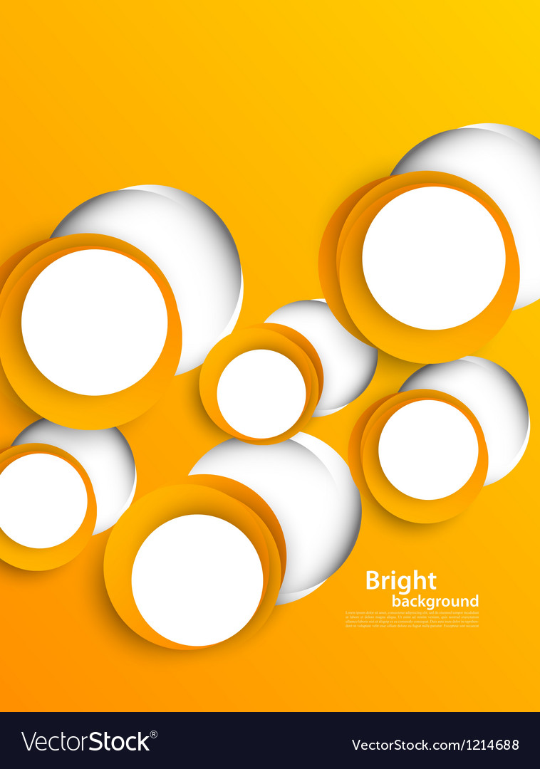 Background with orange circles vector | Price: 1 Credit (USD $1)