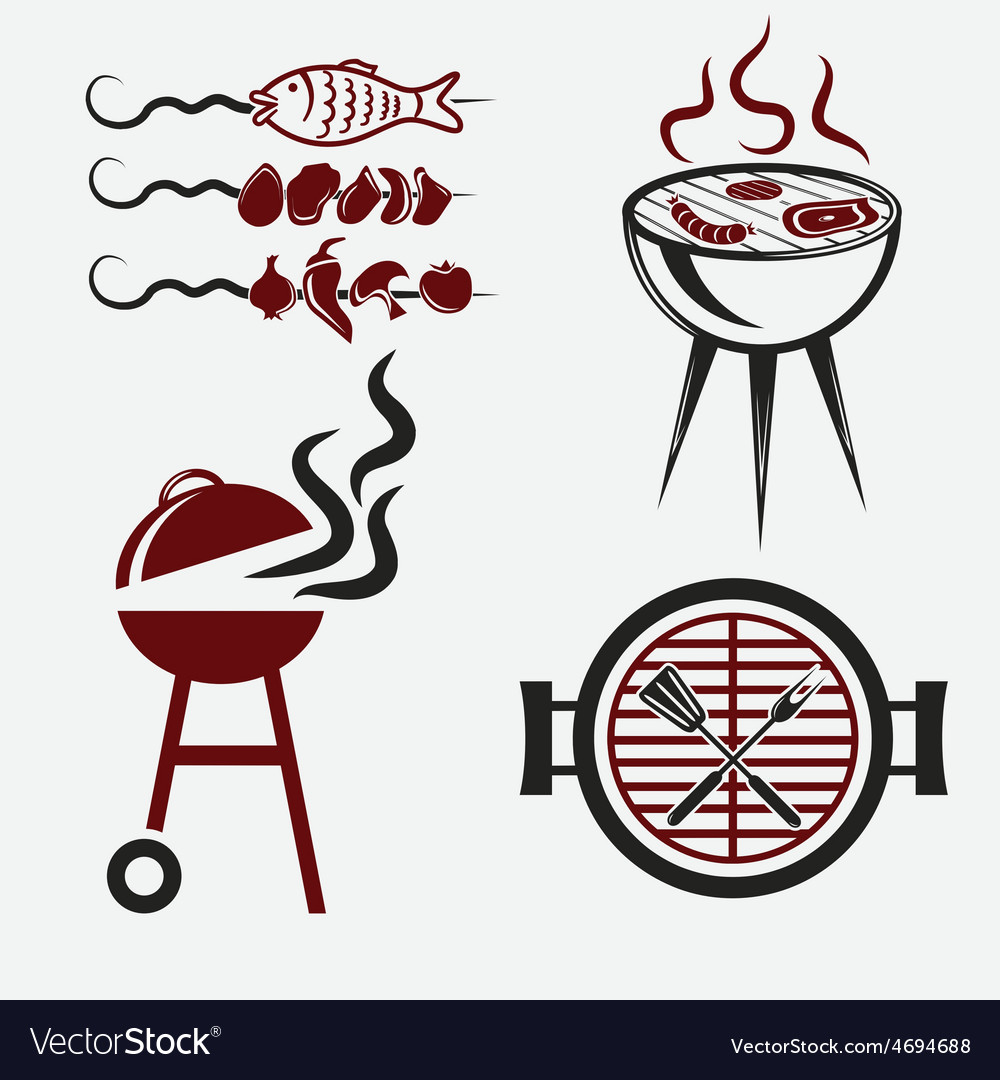Bbq set vector | Price: 1 Credit (USD $1)