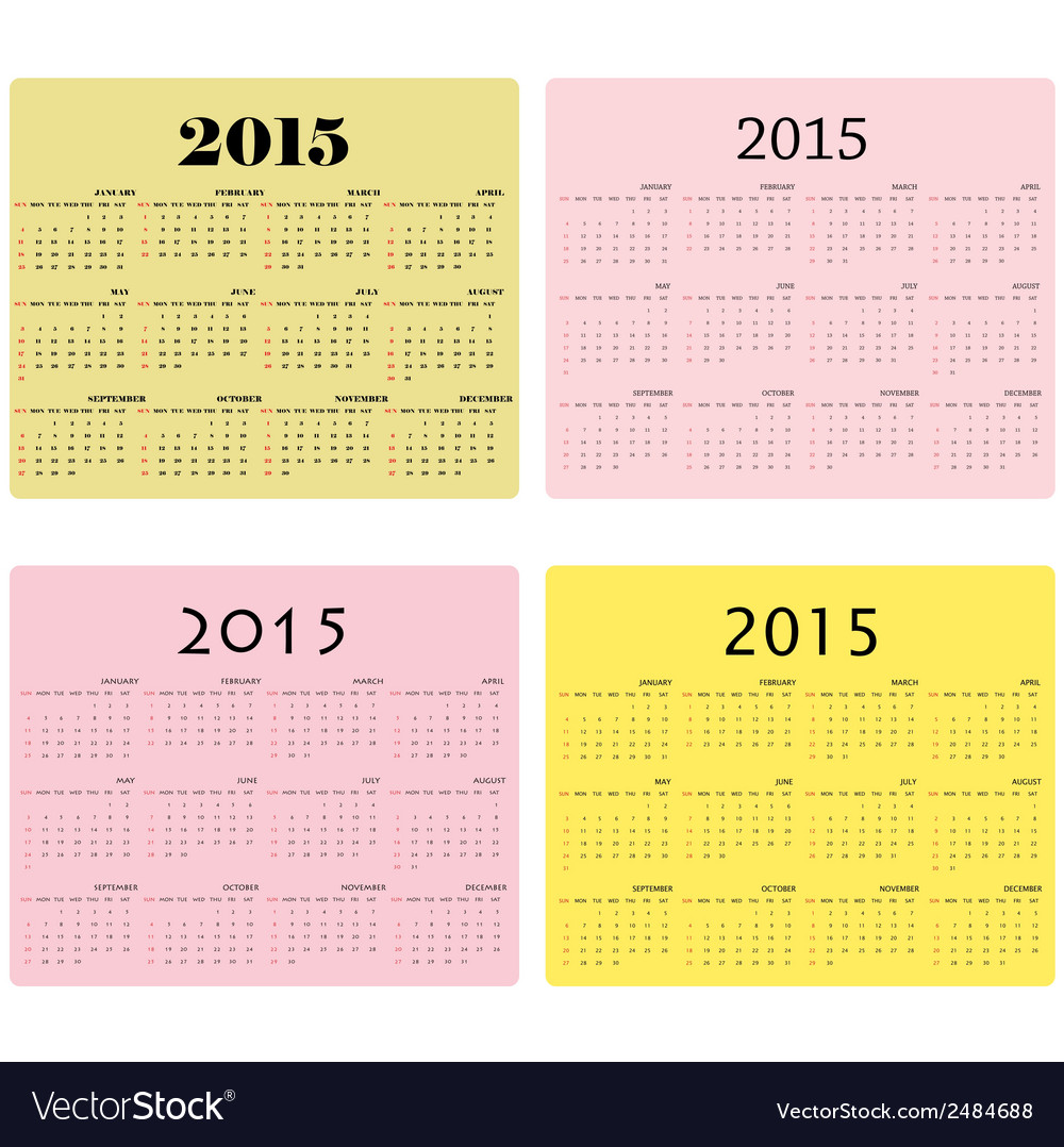 Calendar for 2015 on background vector | Price: 1 Credit (USD $1)